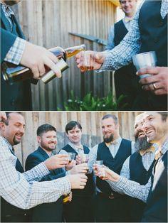 hand crafted wedding beer for pre wedding cheers #groomsmen #weddingideas #weddingchicks http://www.weddingchicks.com/2014/02/13/yellow-and-white-wedding/