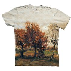 "ArtsyClothingCo- Van Gogh -""Autumn Landscape with Tr...-Tagless- Mens Shirt 1731 ($29.99) - Svpply"