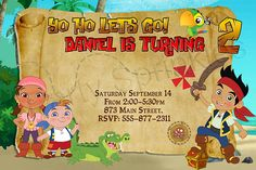 Download Now FREE Template Jake and The Neverland Pirates Birthday Party Invitations