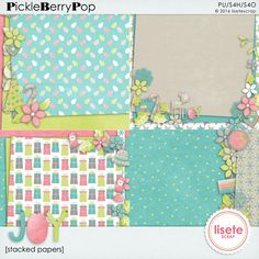 Joy stacked papers By Lisete Scrap
