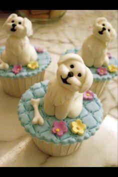 Cupcakes con tiernos perritos, que da pesar comérselos!!.