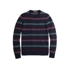 Brooks Brothers Cashmere Fair Isle Crewneck Sweater (22,530 INR) ❤ liked on Polyvore featuring men's fashion, men's clothing, men's sweaters, mens crew neck sweaters, brooks brothers mens sweaters, mens crewneck sweaters, mens fair isle sweater and mens cashmere sweaters