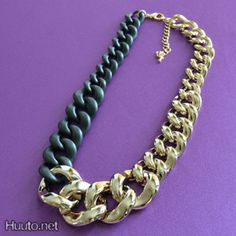 Black & Gold Chain Necklace $19 + worldwide shipping #summer #spring #accessory #fashion #statement #jewelry