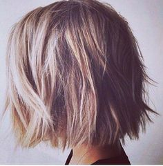 I love this messy blunt Bob, I think I'm going to do my hair like this