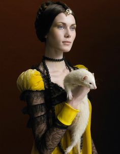 ¿Quien tiene el protagonismo, la mascota o la modelo? Dicen que la fotografía de Sabine Pigalle está influenci...