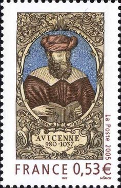 stamp printed in the name of Ibn Sina France. Baphomet, France O, Medieval Banquet, Old Stamps, Islamic Paintings, Stamp Printing, Stamp Collecting, Postage Stamps, Famous People