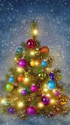 Ideas for vintage christmas tree wallpaper Christmas Scenes, Noel Christmas, Vintage Christmas Cards, Winter Christmas, Xmas, Woodland Christmas, Christmas Ornaments, Illustration Noel, Christmas Illustration