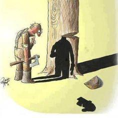 Hmmm...  Chopping wood......