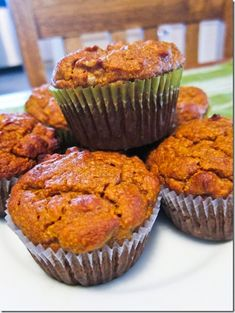Paleo Pumpkin Walnut Muffins Ingredients: 1 cup almond flour/meal 1 cup canned pumpkin 2 eggs 1/4 cup almond butter 1/4 cup honey 1 tsp baking powder 1 tsp cinnamon 1/2 tsp pumpkin pie spice 1/4 tsp salt 3/4 cup chopped walnuts