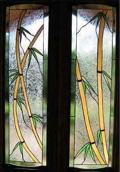 Bamboo Art Glass Window