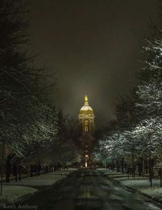 Winter at Notre Dame. College Football Teams, Football Love, Notre Dame Football, Notre Dame Apparel, Noter Dame, Notre Dame Irish, Notre Dame Basilica, Lou Holtz, Go Irish