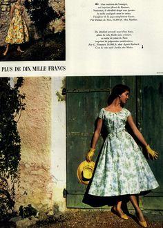 Jardin des Modes Editorial Moins de Dix Mille Francs, April 1955 Shot #10