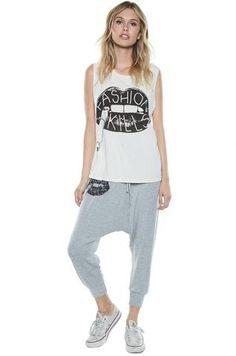 Vita Fashion Kills Leg Drop Crotch Pant - Lauren Moshi - 2