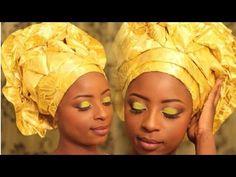 ♥♥ Collaboration Queen Of Africa  -Tuto Comment Attacher Son Gele Nigerien Facilement♥♥ - YouTube