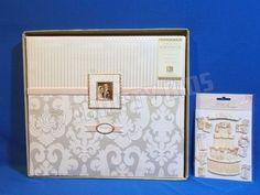 "K&Company 12""x12"" Bordeaux Wedding Scrapbook Photo Album & 9 Stickers 532632 New #KCompany"
