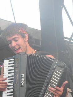 Ben Lovett rocking the accordion.