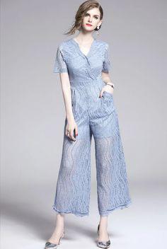 Dress Outfits, Fashion Dresses, Women's Fashion, Elegant Dresses, Casual Dresses, Kebaya Lace, Push Up Lingerie, Blue Overalls, Fall Pants