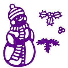 Sweet Dixie Christmas Die: Small Snowman Die