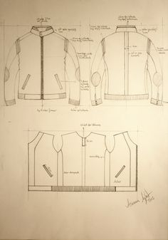 Technical Fashion Drawing 'Jacket'