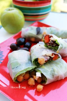 Use Rice paper wraps for Fruit & almond Butter -