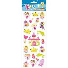 Stickervel prinsessen. Een stickervel vol met leuke stickers van prinsessen en feeen. Het vel bevat ongeveer 20 stickertjes.
