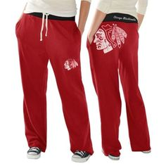 Chicago Blackhawks Ladies Recruit Fleece Pants - Red Fans Edge