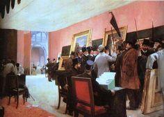 """A história de """"A Painting Juri Session"""" de Henri Gervex"""