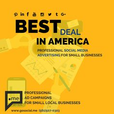 AMERICA'S MOST AFFORDABLE PROFESSIONALLY DESIGNED SOCIAL MEDIA ADS. www.gosocial.me http://www.gosocial.me/SAMPLES/