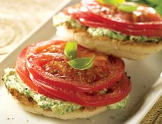 Open-Face Tomato-Basil Sandwiches