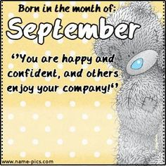 ●•‿✿⁀September - Tatty Teddy Bear ‿✿⁀•●