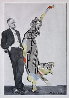 Eduardo Paolozzi, James Joyce and Dancer: Monument to Trieste, 1960, Collage on paper, Pallant House Gallery, Wilson Loan (2006)|© The Trustees of the Eduardo Paolozzi Foundation
