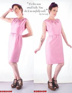Moving SALE 1960's Vintage Pink Beaded Sleeveless Formal Dress, Mad Men Style,  by sideshowsam, $30.00