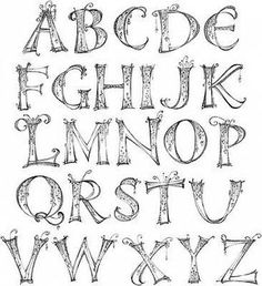 Pretty Fonts Alphabet, Lettering Styles Alphabet, Caligraphy Alphabet, Handwriting Alphabet, Hand Lettering Fonts, Doodle Lettering, Creative Lettering, Graffiti Lettering, Lettering Tutorial
