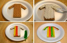 Snack: Joseph's Coat of Many Colors (great idea for Faith Studios curriculum)
