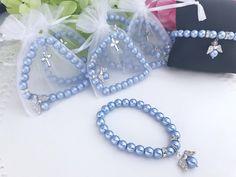 12 Angel Pearl Bracelets for Baptism favors baby blue color image 0 Christening Favors, Baptism Favors, Baby Christening, Catholic Christening, Unique Bridal Shower, Wedding Shower Favors, Wedding Lasso, Metal Wings, Baby Blue Colour