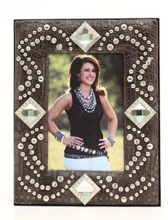 Western Decor Western Moments Crystal Bling 4x6 Western Picture Frame