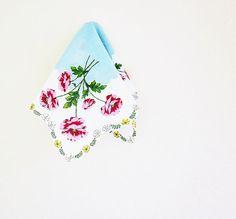 Feminine Hanky Hankie Handkerchief Vintage Fancy by jarmfarm, $9.99