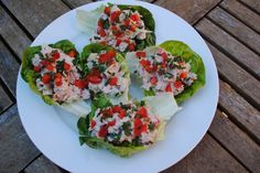 Tuna Lettuce Boats - all this for only 195 calories. It is fat free, low carb and high in protein.
