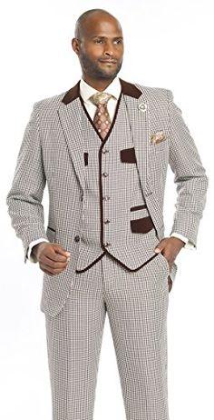 E.J. Samuel Mens Suit Brown 3 Piece Vested Plaid Check Suits Fashion Style For Church Business Office velour velvet https://www.amazon.com/dp/B01M2A4OC3/ref=cm_sw_r_pi_dp_x_sdIkybC7N96CB