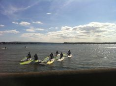 Beginners windsurf lesson heading out to the Poole Windsurfing teaching location of Poole Harbour.  Great conditions for learning how to windsurf. #poolewindsurfing #windsurfschool #pooleharbour