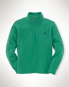 Long-Sleeved Half-Zip Pullover - Boys 2-7 Tees and Sweatshirts - RalphLauren.com