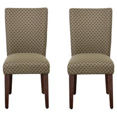 Parson Dining Chair Wood/Brown Mini Diamond (Set of 2) - HomePop | Home & Garden, Furniture, Chairs | eBay!