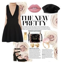 """Pretty In Damask Rose"" by rizzasantos on Polyvore featuring Valentino, New Look, Kate Spade, Eddie Borgo, Lanvin, Goshwara, Lime Crime and Tory Burch"