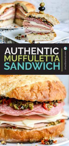 Deli Sandwiches, Hot Sandwich Recipes, Best Sandwich, Italian Sandwiches, Appetizer Sandwiches, Sandwich Ideas, Healthy Sandwiches, Muffaletta Recipe, Muffuletta Sandwich
