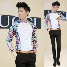 Recommendation 2014 Newest Printed Easy Care Regular Fit Office Dress Vintage Shirt Fashion Cool Men Wholesale Aliexpress Retail $24.56