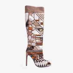 Ivy Kirzhner #LimitedEdition Taupe Beaded Kronos boot