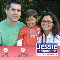 Vote for Jessie Rodriguez for Wisconsin's 21st Assembly district on November 19th, 2013!