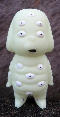 Hyakume - a yokai in Japan - sofubi toy figure made by sunguts