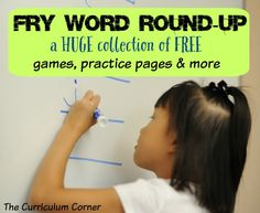 Fry Word Round-Up | A HUGE collection of FREE Fry Word printables | assessment activities, games, practice pages & more | The Curriculum Corner