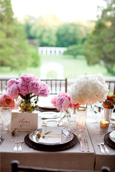 Heavenly table setting